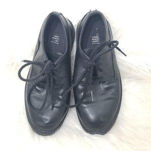 Zara Boys | Black Lace Up Oxford Dress Shoes 30